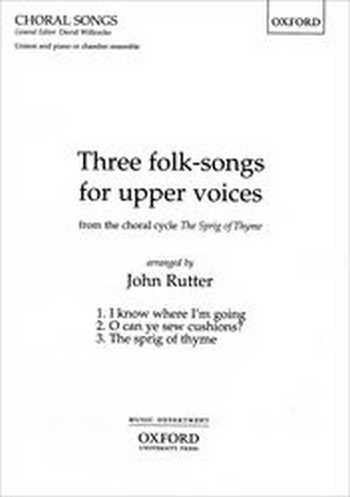 3 Folk-Songs: for upper voices (unison) and piano