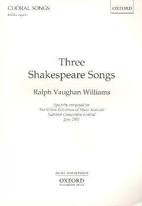 3 Shakespeare Songs: for unaccompanied mixed voices