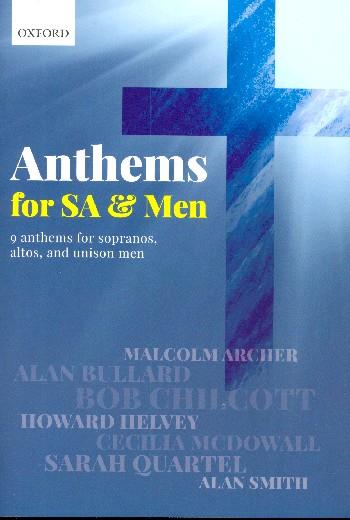 Anthems for SA and Men: for mixed chorus (SAM)