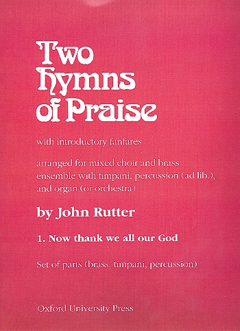 Rutter, John - Now thank we all our God :