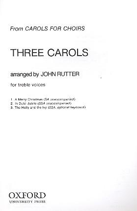 3 Carols: for female chorus score