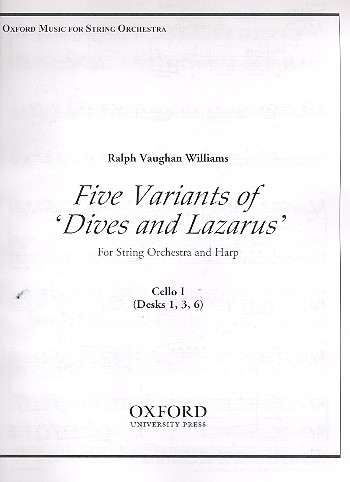 5 Variants of Dives and Lazarus: for harp and string orchestra