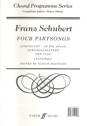 4 Partsongs: for mixed chorus (SATB) and piano