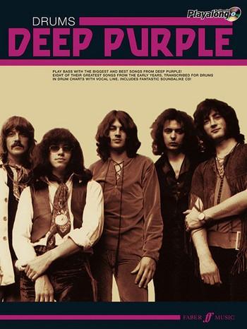 Deep Purple (+CD): Authentic Drums Playalong Songbook vocal/drums