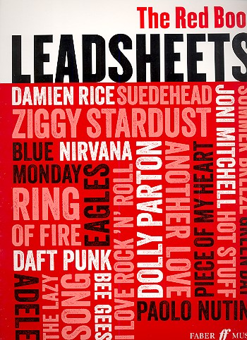 Leadsheets - the red Book: songbook melody line/lyrics/chords