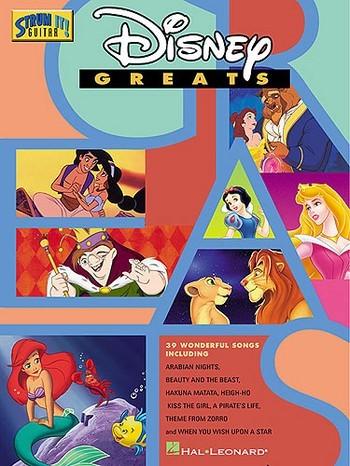 Disney Greats songbook melody line/lyrics/strum patterns/