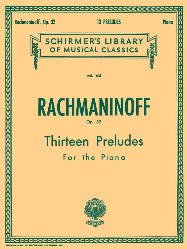 Rachmaninoff, Sergei - 13 Preludes op.32 : for piano