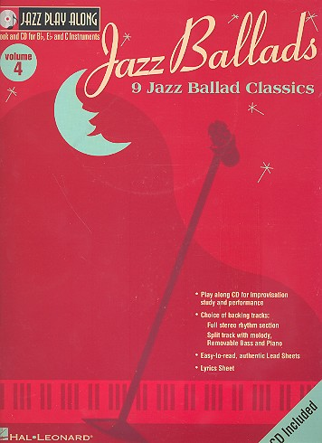 9 Jazz Ballad Classics (+CD): for Bb, Eb and C instruments
