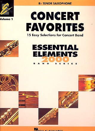 Concert Favorites vol.1: for concert band tenor saxophone