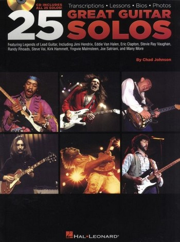 25 great Guitar Solos (+CD): for guitar and tablature