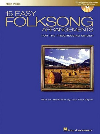 15 easy Folksong Arrangements (+cd): for the progressing singer, hight voice