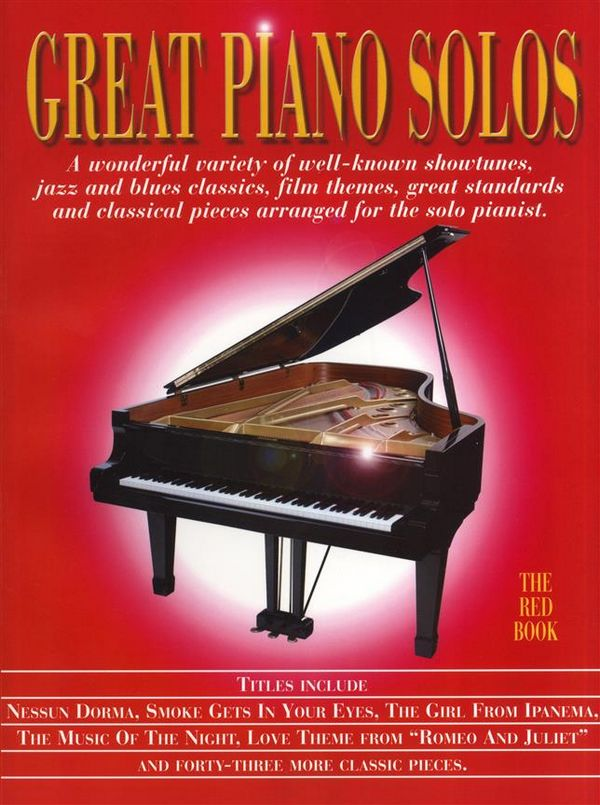 Great Piano Solos: the red book songbook for piano solo