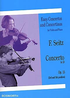Concerto D major: for violin/piano opus.15 (third and fifth position)