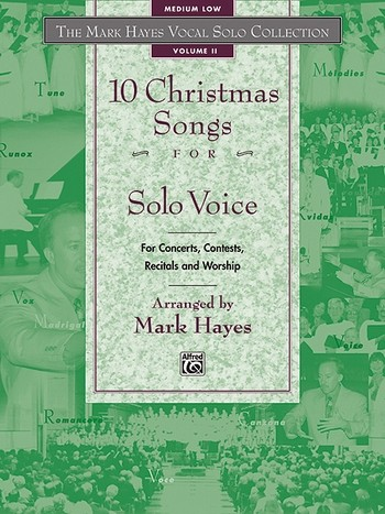 10 Christmas Songs vol.2: for medium low voice and piano