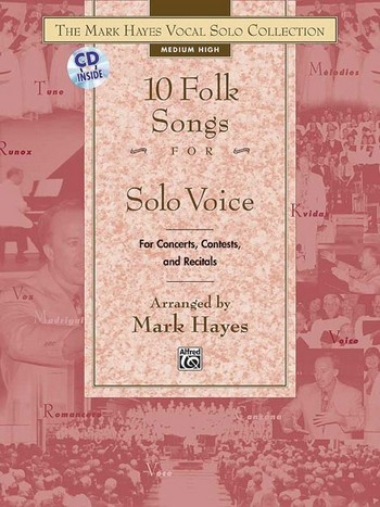 10 Folk Songs (+CD): for medium high voice and piano