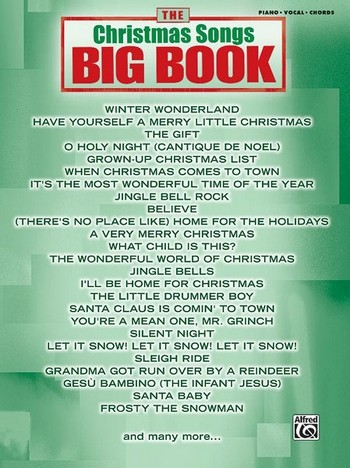 Big Book - Christmas Songs songbook piano/vocal/guitar