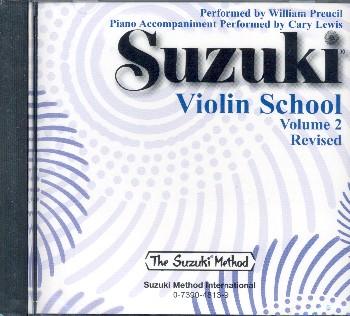 Perfs Preucil & Lewis: Suzuki Violin School Vol 2 (Rev 07) CD