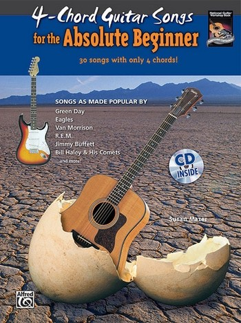 4-Chord Guitar Songs for the absolute Beginner (+CD): for guitar