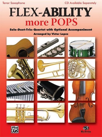 Flex-Ability more Pops: for 4 instruments tenor saxophone score