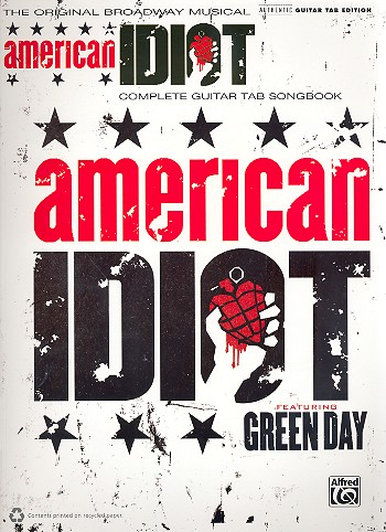 American Idiot: The Musical songbook vocal/guitar/tab