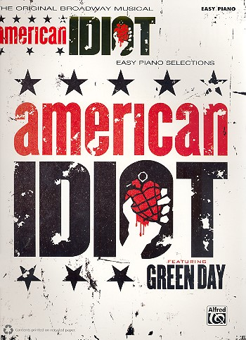 American Idiot - The Musical (selections): for easy piano