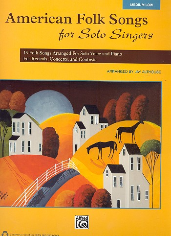 American Folk Songs for Solo Singers: for medium low voice and piano