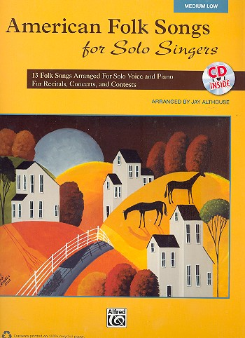 American Folk Songs for Solo Singers (+CD): for medium low voice and piano