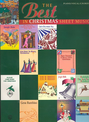 The Best in Christmas Sheet Music: Songbook piano/voacl/guitar