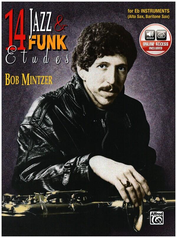 14 Jazz and Funk Etudes (+CD): for alto or baritone sax in eb