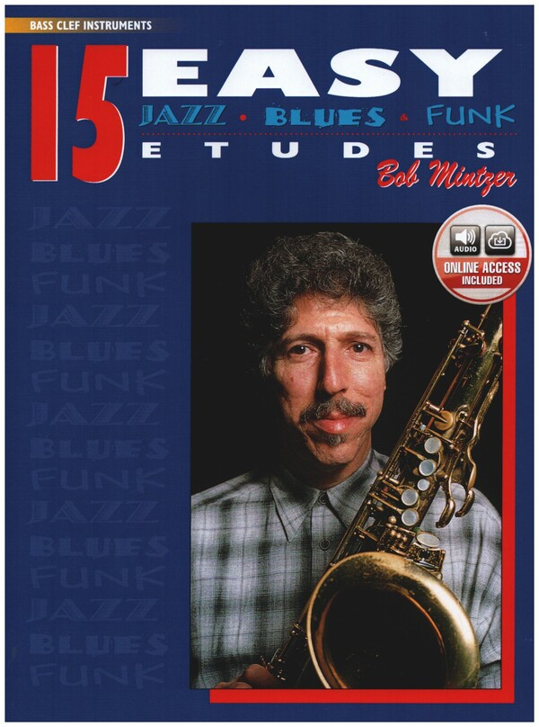 15 easy Jazz Blues and Funk Etudes (+CD): bass clef instruments