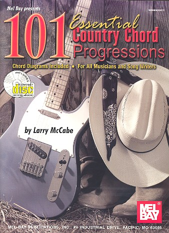 101 Essential Country Chord Progressions (+CD): for guitar