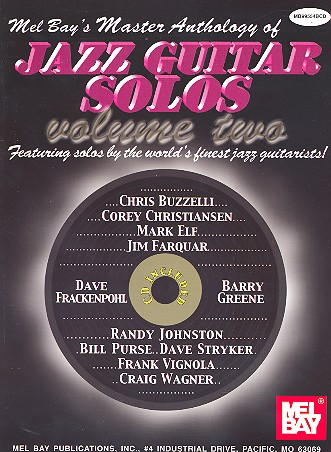 Anthology of Jazz Guitar Solos Vol.2 (+CD): for Guitar/Tab