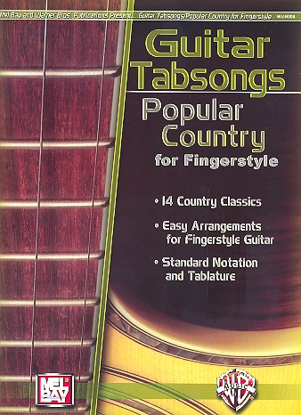 Guitar Tabsongs: popular country for fingerstyle guitar (standard notation+tablature)
