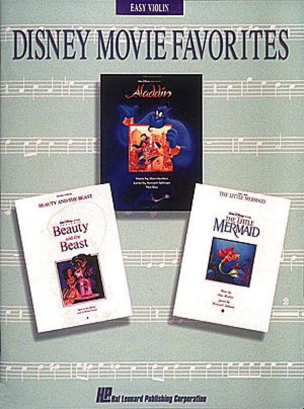 Disney Movie Favorites: Songbook for easy violin