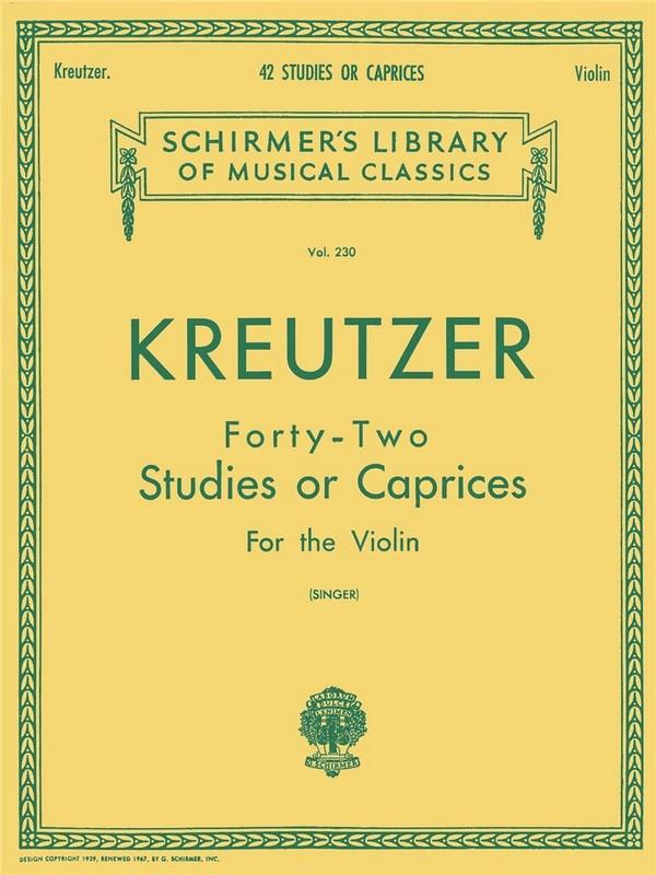 Kreutzer, Rodolphe - 42 studies : for the violin