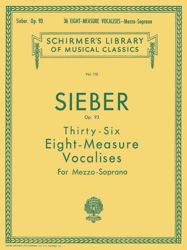Sieber, Ferdinand - 36 eight-measure Vocalises op.93 :