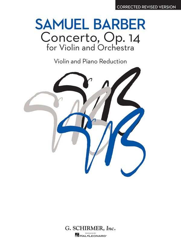Barber, Samuel - Concerto op.14 : for violin and piano