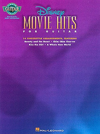 Disney Movie Hits: for guitar Songbook for fingerstyle guitar/