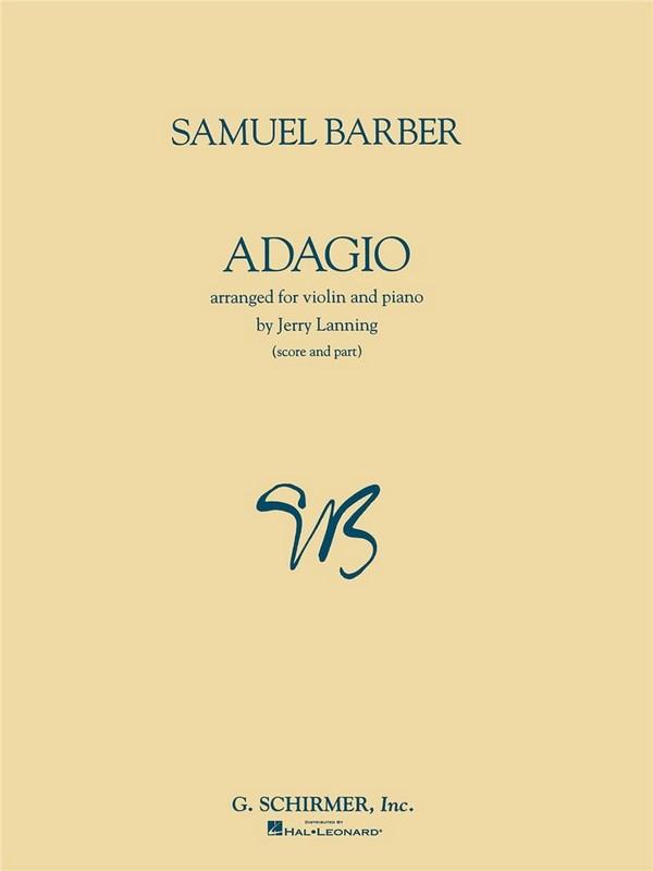 Barber, Samuel - Adagio : for violin and piano