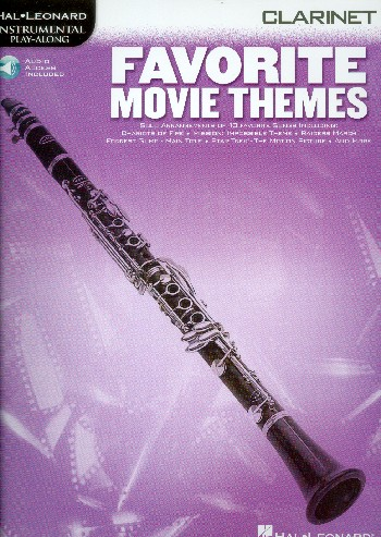 Favorite Movie Themes (+Online-Audio-Access): songbook for clarinet
