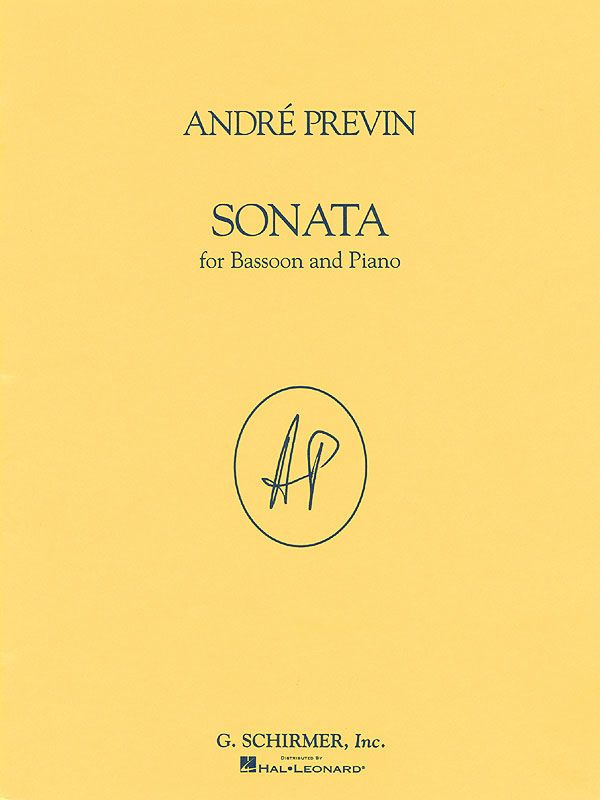 Previn, Andre - Sonata : for bassoon and piano