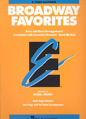 Broadway Favorites: for tenor saxophone