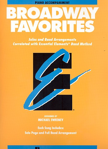 Broadway Favorites: for concert band piano accompaniment