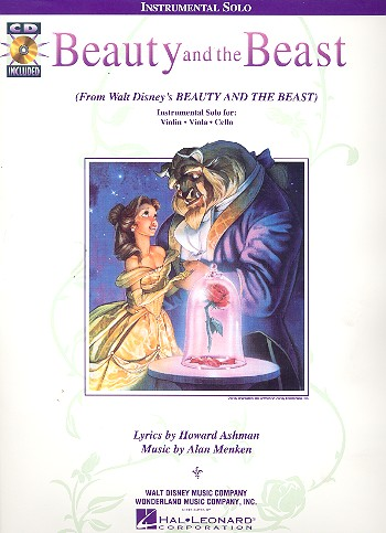 Beauty and the Beast (+CD): for violin (viola,cello)