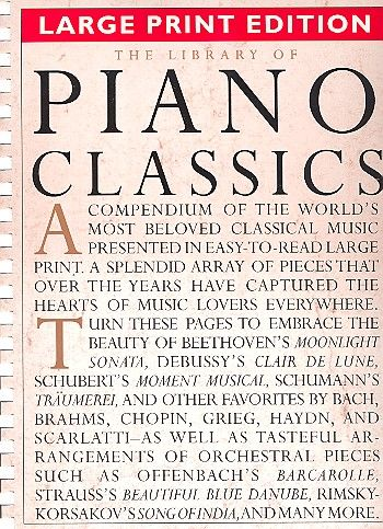 The Library of Piano Classics: Large Print Edition