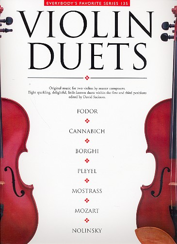 Violin Duets: original music for 2 violins by master composers, parts