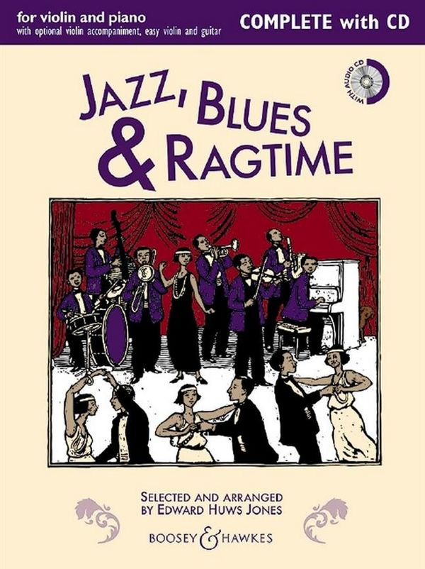 Jazz, Blues and Ragtime (+CD): for violin and piano (violin 2, easy violin and guitar ad lib)