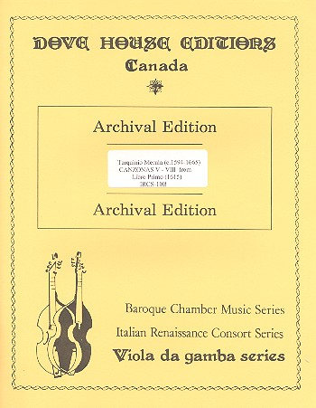 Canzonas 5-8 in 4 parts (SATB) from libro primo