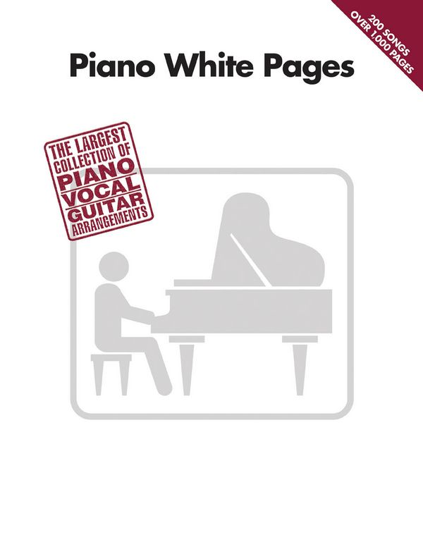 Piano white Pages: piano/vocal/guitar