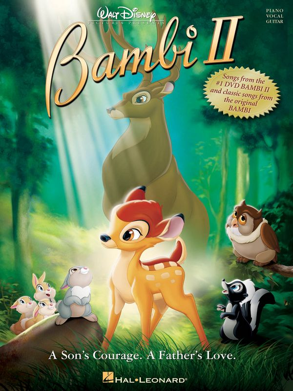 Bambi 2 and classic Songs from Bambi 1 songbook piano/vocal/guitar